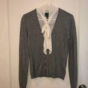 Ralph Lauren NWOT silk/cashmere faux cardigan
